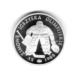 Moneda De Polonia 1987 500 Zlotys Juegos Olimpicos Portero De