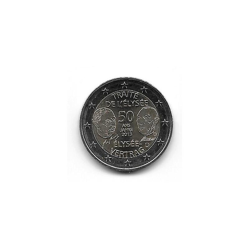 "Coin 2 Euro Germany Elysee Treaty ""D"" Year 2013"