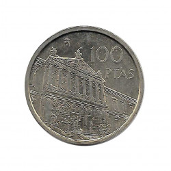 Coin Spain 100 Pesetas Year 1996 National Library Uncirculated