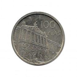 Münze Spain 100 Peseten Jahr 1996 Nationalbibliothek Unzirkuliert