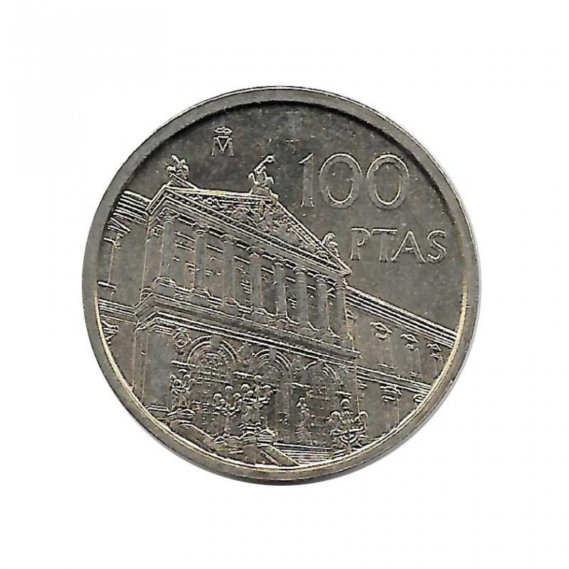 Moneda España 100 Pesetas Año 1996 Biblioteca Nacional Sin Circular