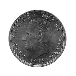 Coin Spain 25 Pesetas Year 1975 Star 78 King Juan Carlos I Uncirculated