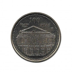 Coin Spain 100 Pesetas Year 1997 Royal Theatre Uncirculated