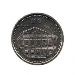 Münze Spain 100 Peseten Jahr 1997 Königliches Theater Unzirkuliert