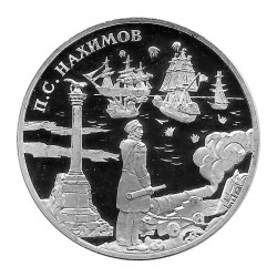 Coin Russia 2002 3 Rubles Nakhimov Silver Proof PP