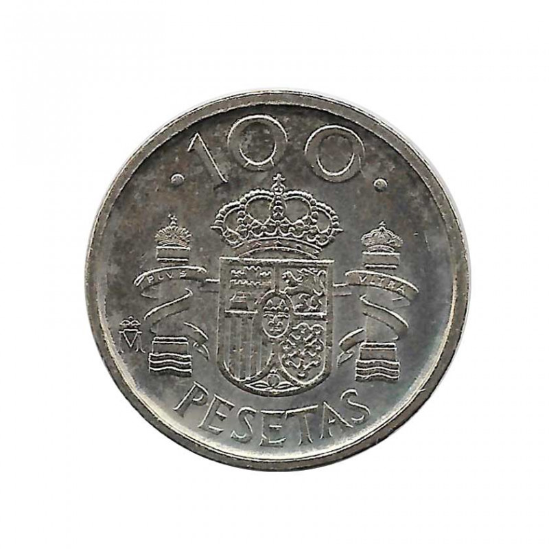 Münze Spain 100 Peseten Jahr 1992 König Juan Carlos I Unzirkuliert