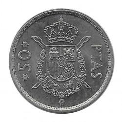 Coin Spain 50 Pesetas Year 1975 Star 78 King Juan Carlos I Uncirculated