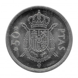 Moneda España 50 Pesetas Año 1975 Estrella 76 Rey Juan Carlos I Sin Circular SC | Numismática española - Alotcoins