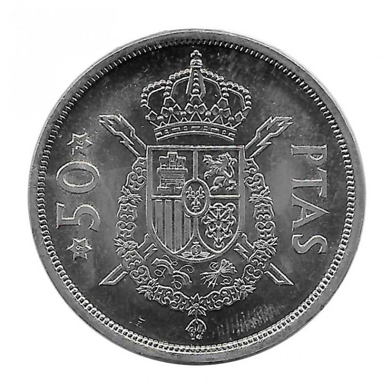Münze Spanien 50 Peseten Jahr 1975 Stern 76 König Juan Carlos I Unzirkuliert