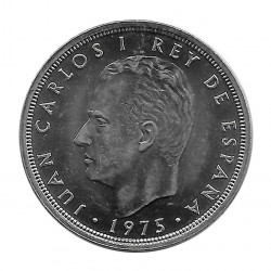 Coin Spain 50 Pesetas Year 1975 Star 76 King Juan Carlos I Uncirculated