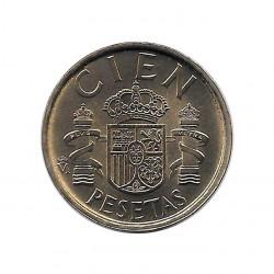Coin Spain 100 Pesetas Year 1989 King Juan Carlos I Uncirculated