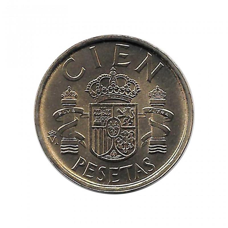 Münze Spain 100 Peseten Jahr 1989 König Juan Carlos I Unzirkuliert