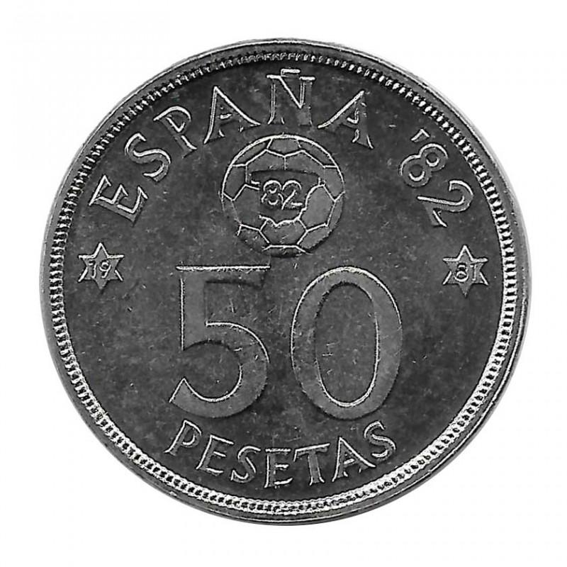 Moneda España 50 Pesetas Año 1980 Mundial de fútbol 1982 Estrella 81 Sin Circular
