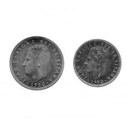 2 Monedas España 25 y 50 Pesetas Año 1980 Mundial de fútbol 1982 Estrella 81 Sin Circular