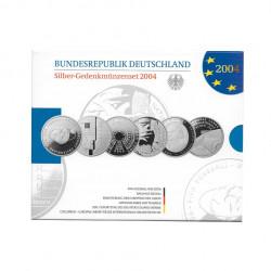 Gedenkmünzenset 10 Euro Deutschland Jahr 2004 Silber Spiegelglanz