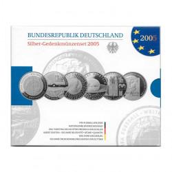 Pack Monedas Conmemorativas 10 Euros Alemania Año 2005 Plata Proof