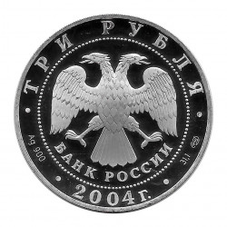 Coin Russia 3 Rubles Epiphany Cathedral 2004 | Numismatics Online - Alotcoins