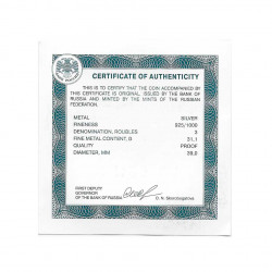 Coin 3 Rubles Russia Year 2018 Monastery Simferopol Proof