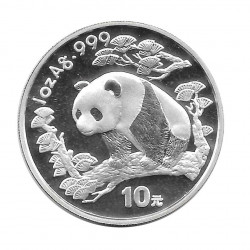 Moneda China Año 1997 Plata Panda 10 Yuan Proof