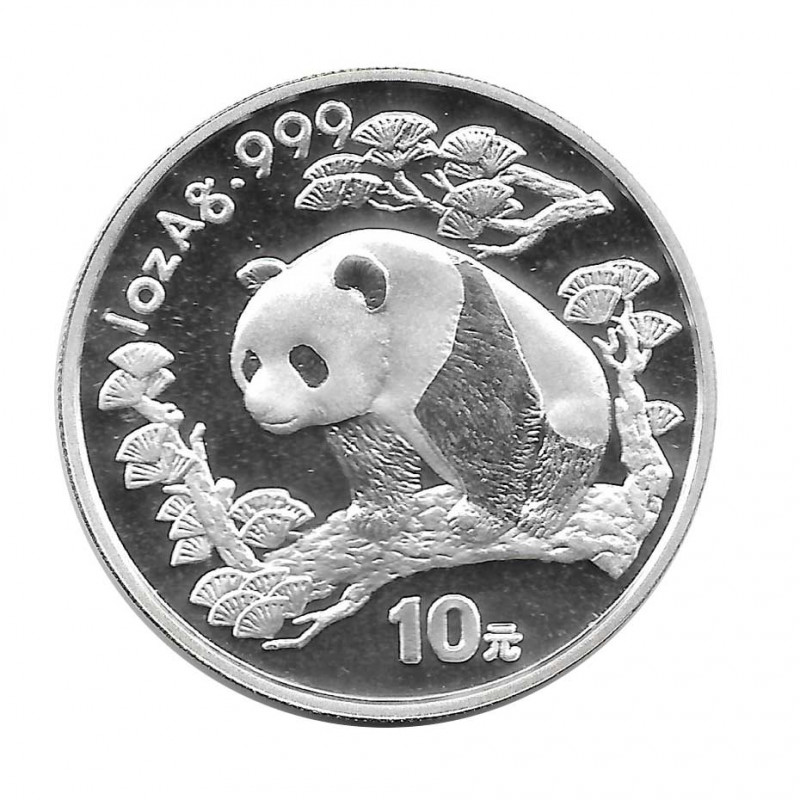 Münze China 10 Yuan Jahr 1997 Silber Panda Proof