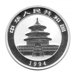 Coin 5 Yuan China Panda approaching the water Year 1994 Silver Proof Uncirculated