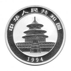 Münze 5 Yuan China Panda annäherung an das Wasser Jahr 1994 Silber Spiegelglanz PP