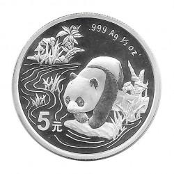 Moneda 5 Yuan China Panda bebiendo agua Año 1997 Plata Proof Sin Circular