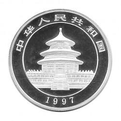 Münze 5 Yuan China Panda Trinkwasser Jahr 1997 Silber Spiegelglanz PP