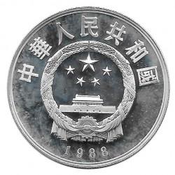 Moneda 5 Yuan China Bi Sheng Año 1988 Plata Proof Sin Circular
