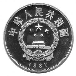 Moneda de plata de 5 Yuan de China Li Chun Año 1987 Proof | Numismática Española - Alotcoins