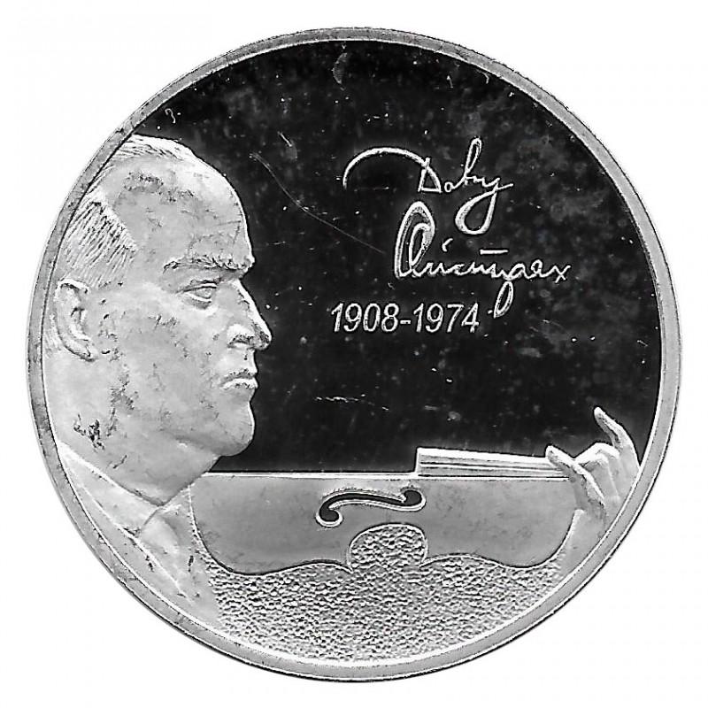 Moneda de Rusia 2008 2 Rublos Violinista Ojstrach Plata Proof PP