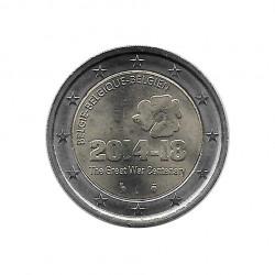 Münze Belgien 2 Euro Jahrestag Erster Weltkrieg 2014