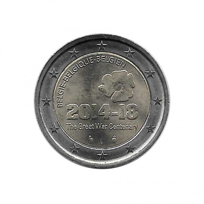 Moneda 2 Euros Bélgica Aniversario Primera Guerra Mundial 2014