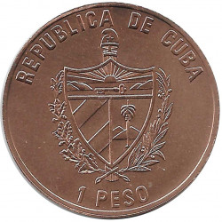 Coin 1 Peso Cuba Che Guevara 75th Anniversary
