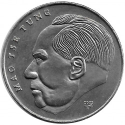 Coin 1 Peso Cuba Mao Tse Tung China 2002