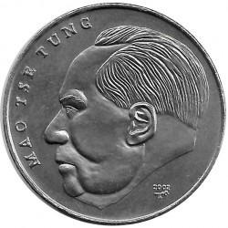 Moneda 1 Peso Cuba Mao Tse Tung China 2002