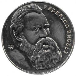 Münze 1 Peso Kuba Friedrich Engels 2002