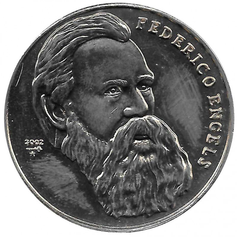 Coin 1 Peso Cuba Friedrich Engels 2002