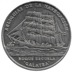 Moneda 1 Peso Cuba Buque Escuela Galatea 2000