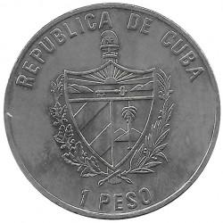Coin 1 Peso Cuba Sailship Galatea Year 2000