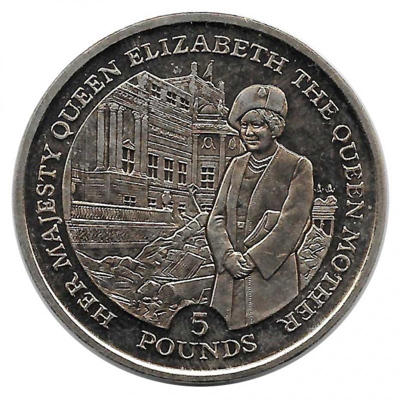 Coin 5 Pounds Gibraltar The Queen Mother Year 1995 - ALOTCOINS