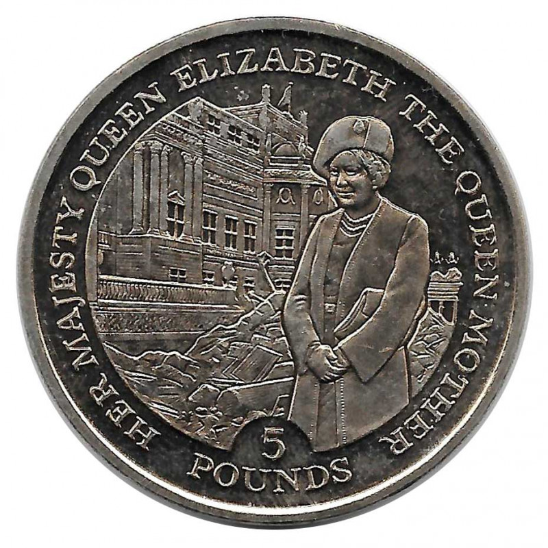 Münze 5 Pfund Gibraltar Die Königinmutter Jahr 1995 - ALOTCOINS