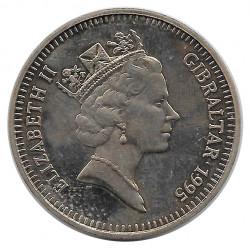 Moneda 5 Libras Gibraltar La Reina Madre Año 1995 - ALOTCOINS