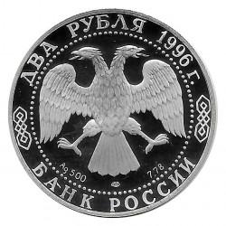 Coin Russia 1996 2 Rubles Fjodr Dostojewski Silver Proof PP