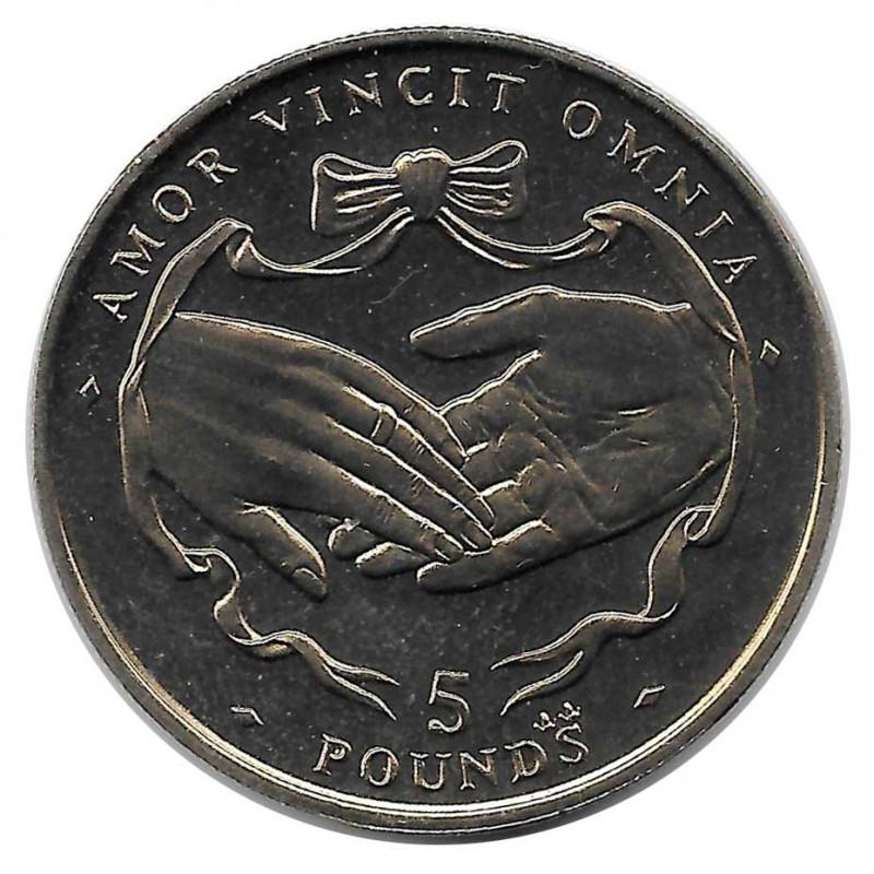 Coin 5 Pounds Gibraltar Amor Vincit Omnia 1997