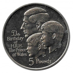 Coin 5 Pounds Gibraltar The Prince of Wales Year 1998