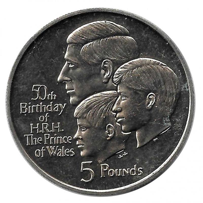 Münze 5 Pfund Gibraltar Der Prinz von Wales Jahr 1998