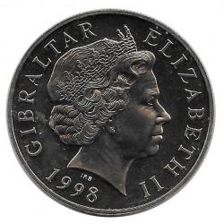 Moneda 5 Libras Gibraltar Principe de Gales Año 1998