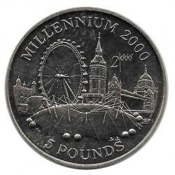 Münze 5 Pfund Gibraltar Jahrtausend 2000 Jahr 1998