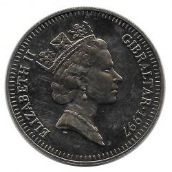 Münze 5 Pfund Gibraltar Kommodore Nelson Jahr 1997 - ALOTCOINS